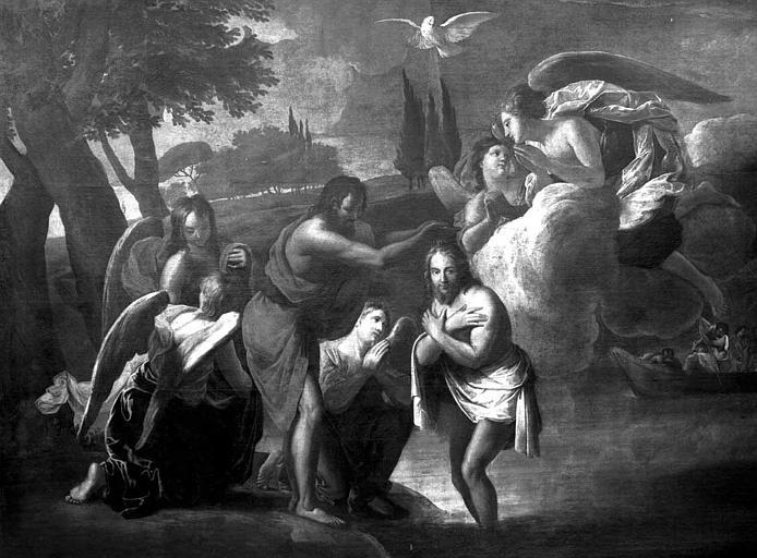 Peinture sur toile : Baptême du Christ