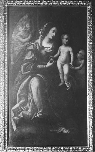 Tableau, cadre : Vierge (la) , l'Enfant Jésus et saint Jean-Baptiste