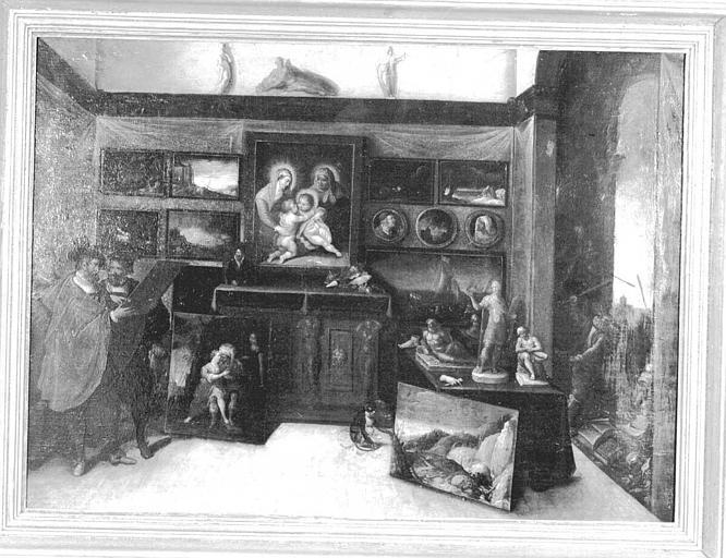 Peinture sur bois (Bureau du Directeur) : Atelier de peintre