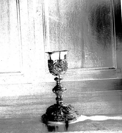 Calice en argent doré, dans la sacristie