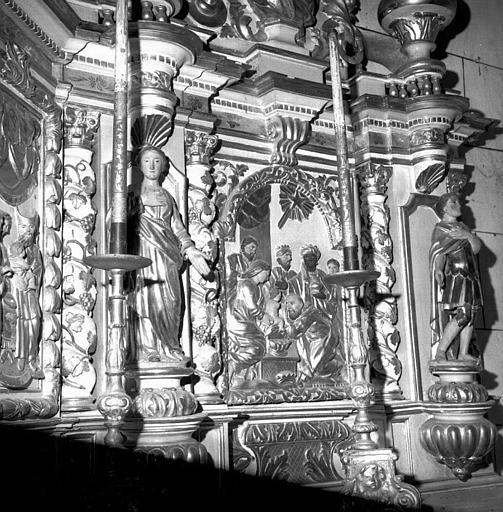 Partie droite du retable du maître-autel