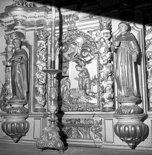 Partie gauche du retable du maître-autel