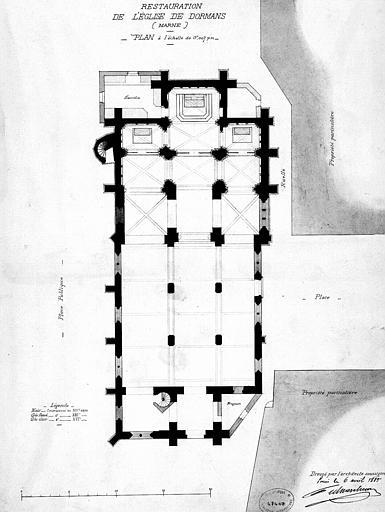 Restauration de l'église : Plan général