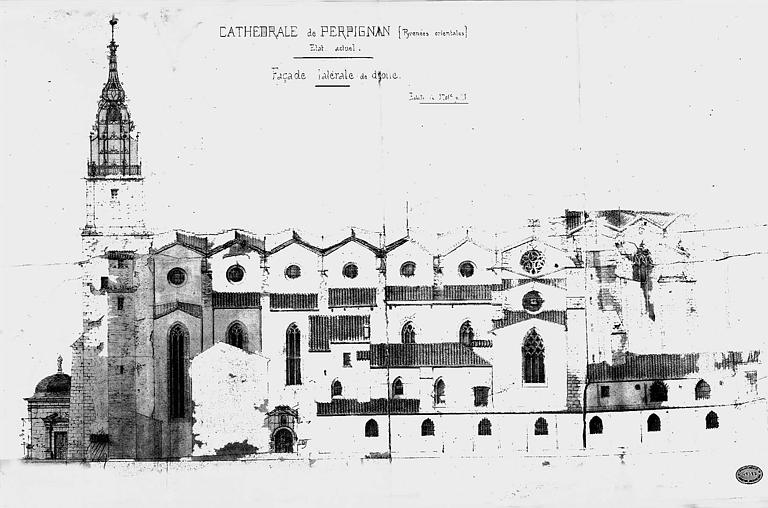 Elévation de la façade latérale (état actuel)