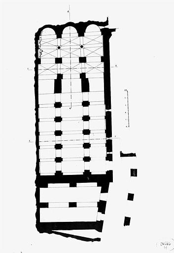 Plan de la crypte de l'église