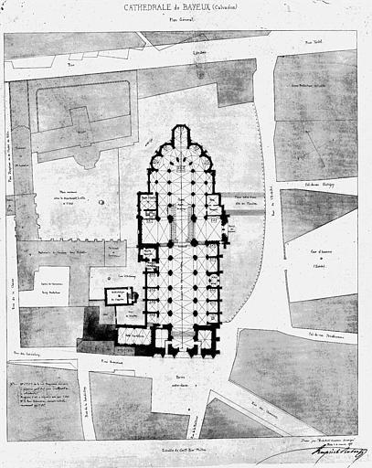 Plan général de la cathédrale et des abords