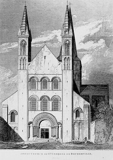 Gravure : Vue de façade ouest