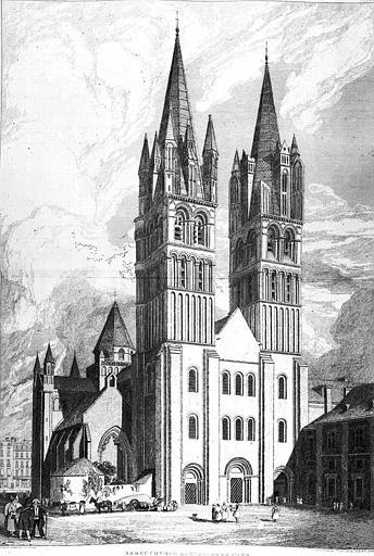 Gravure : Vue de la façade ouest