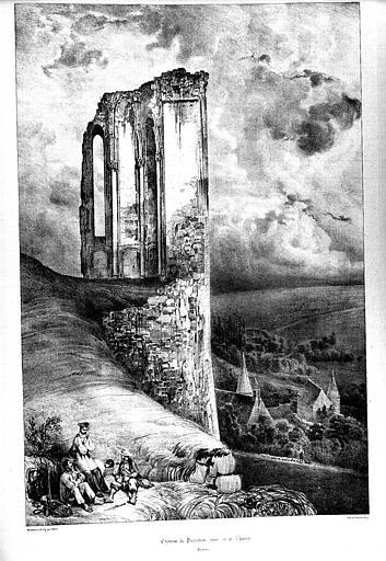 Lithographie : Tour de la chapelle