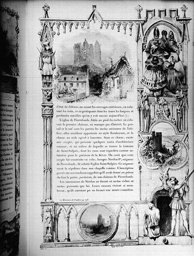 Lithographie : Page ornée
