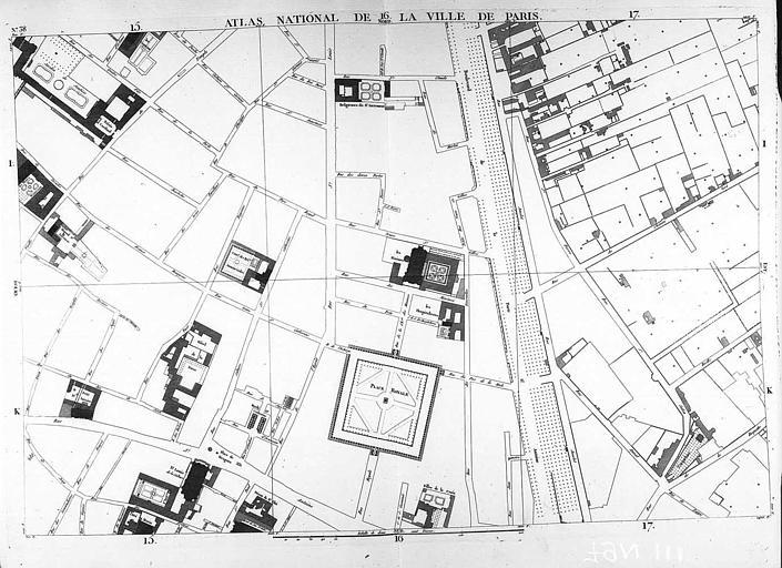 Plan du quartier de la place des Vosges