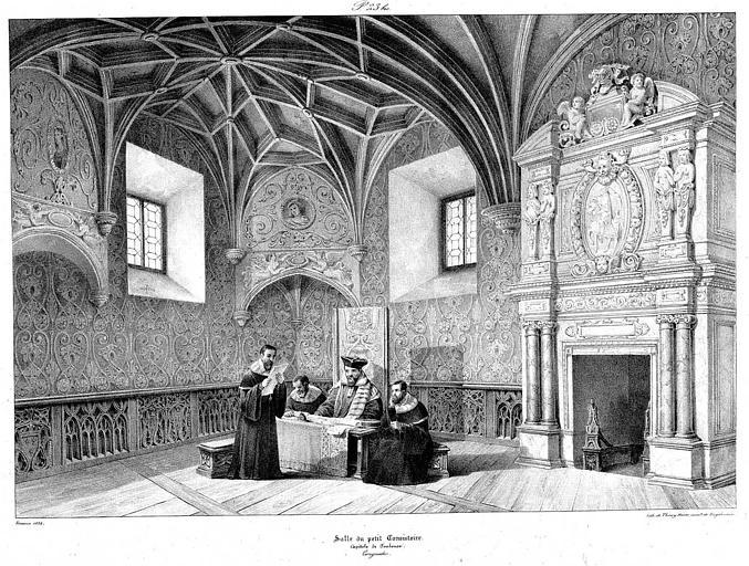Lithographie : Salle du petit consistoire
