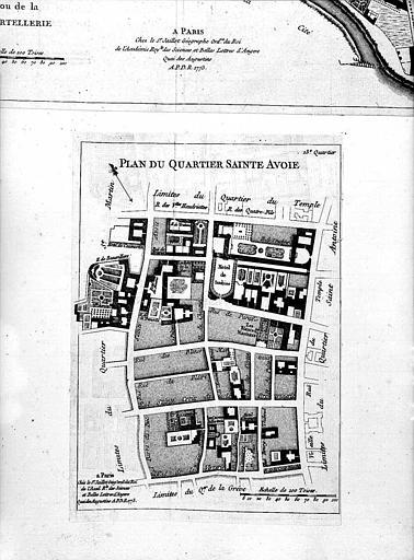 Plan du Quartier Sainte-Avoie