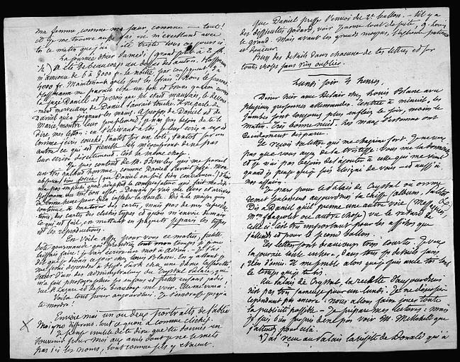 Lettre de Félix Nadar à sa femme, page 2 à gauche et page 3 à droite