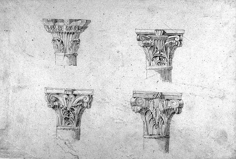 Chapiteaux en marbre de la chapelle Saint-Paul