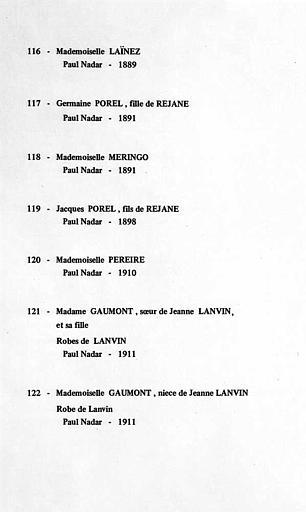 Cartels de l'exposition (116 à 122)