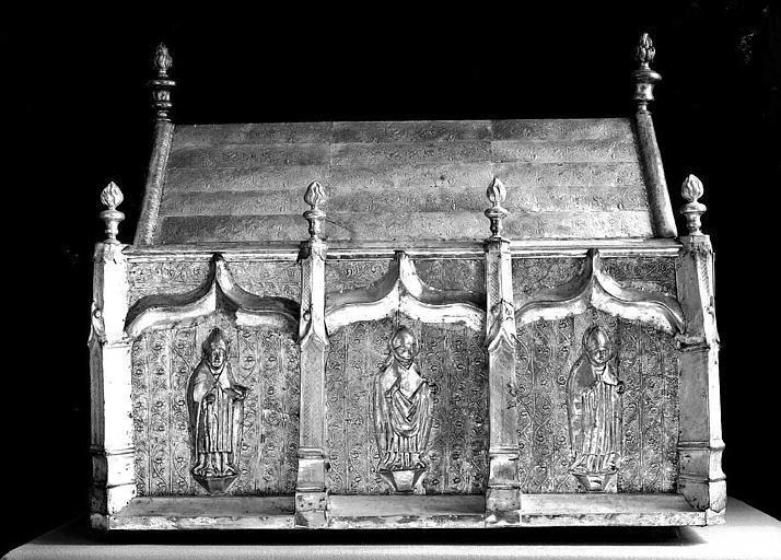Châsse de saint Honorat en cuivre argenté sur âme de bois (face)