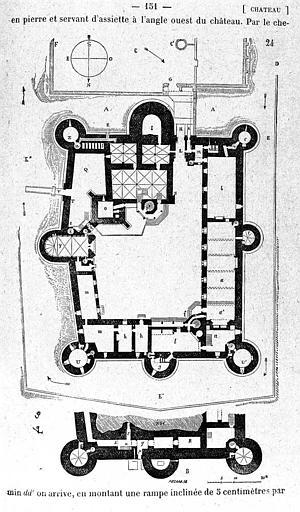 Gravure : Plan du château