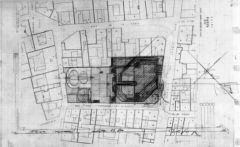 Projet d'aménagement du Musée Picasso (n° 5) : Plan de situation