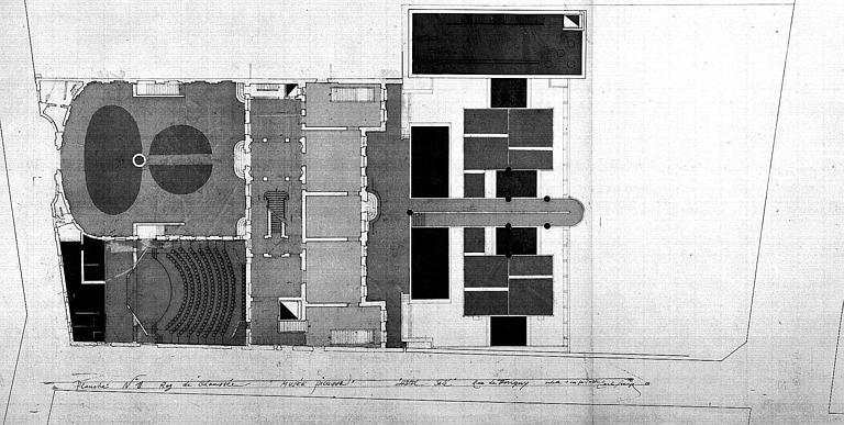 Projet d'aménagement du Musée Picasso (n° 7) : Plan du rez-de-chaussée