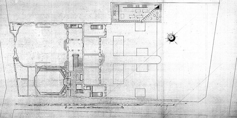Projet d'aménagement du Musée Picasso (n° 9) : Plans de l'entresol de la salle polyvalente et réserve des dessins