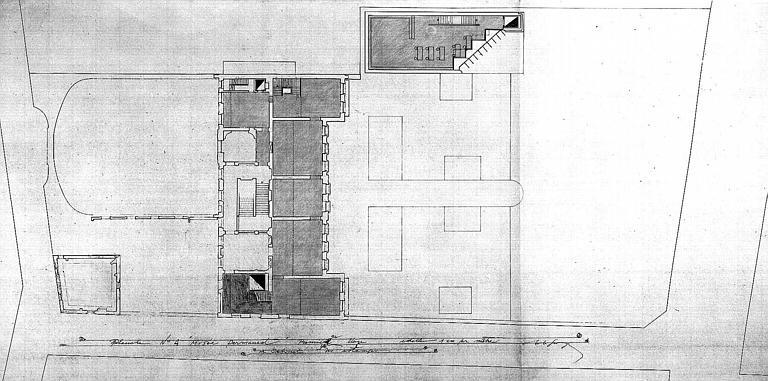 Projet d'aménagement du Musée Picasso (n° 10) : Plan du 1e étage, musée permanent et cabinet des estampes