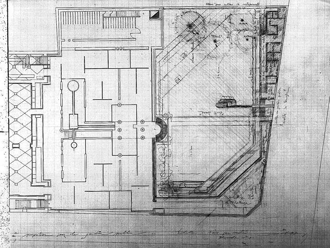 Projet d'aménagement du Musée Picasso (n° 16) : Proposition pour le jardin public (plan)