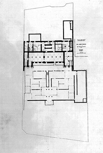 Projet d'aménagement du Musée Picasso (n° 19) : Plan général du sous-sol