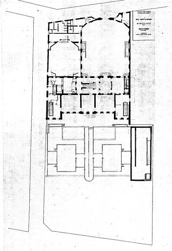 Projet d'aménagement du Musée Picasso (n° 21) plan général du rez-de-chaussée, circulation