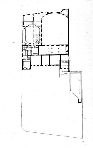 Projet d'aménagement du Musée Picasso (n° 23) : Plan de l'entresol, circulation