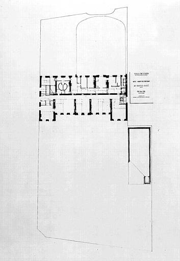 Projet d'aménagement du Musée Picasso (n° 27) : Plan général du 2e étage