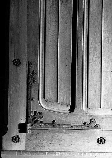 Salle des Preuses : Penture supérieure de la porte d'entrée latérale droite