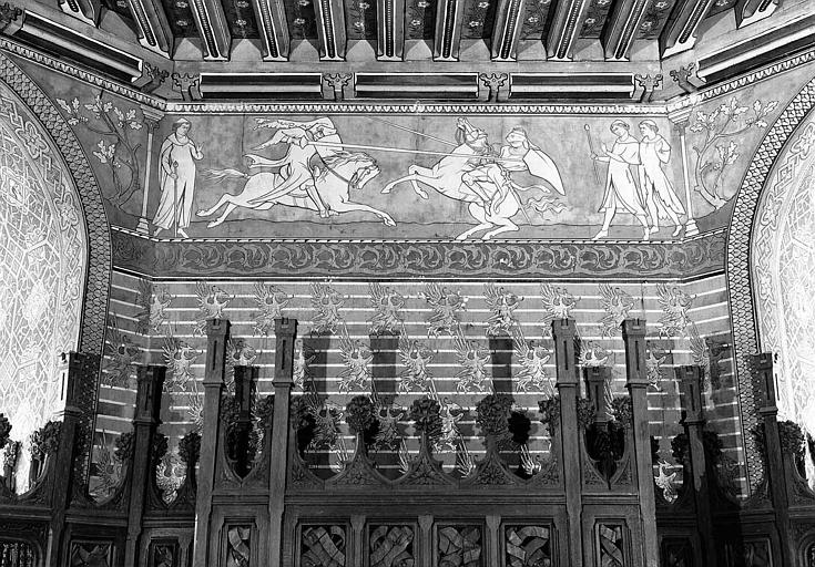 Donjon : Partie supérieure du décor mural de la chambre de l'Empereur