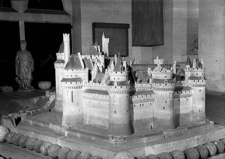 Maquette du château vue de l'est