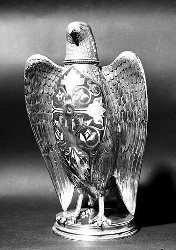 Colombe pour les saintes Huiles en bronze émaillé (face)