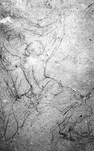 Dessin à la mine de plomb : Etude pour le Saint-Hubert de Chantilly