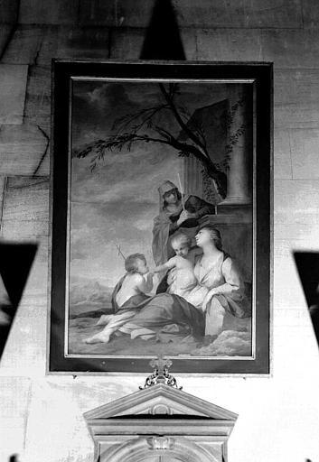 Peinture sur toile : Sainte Anne, la Vierge et l'Enfant et saint Jean-Baptiste