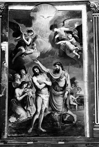 Peinture sur toile : Le Baptême du Christ
