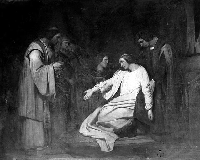 Peinture sur toile : Dernière communion de Saint Louis