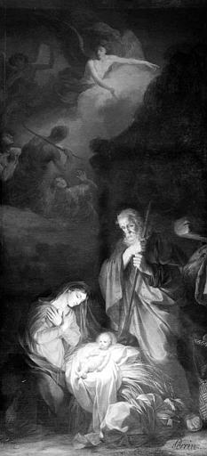 Peinture sur toile : La Naissance du Christ