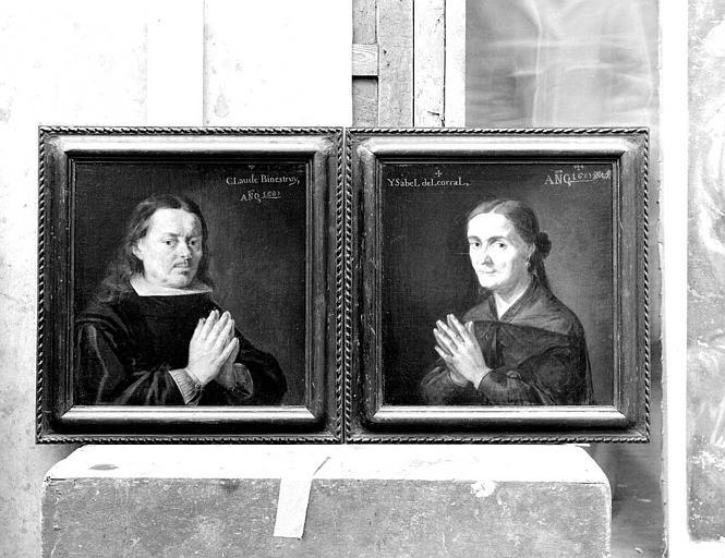 Peinture sur toile : Portraits de Claude Binétruy et Ysabel Binétruy del Corral