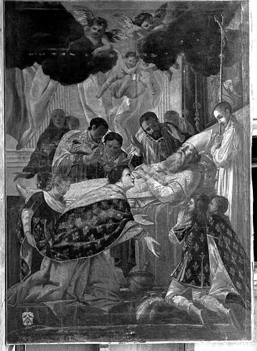 Peinture sur toile : Mort de saint Eloi