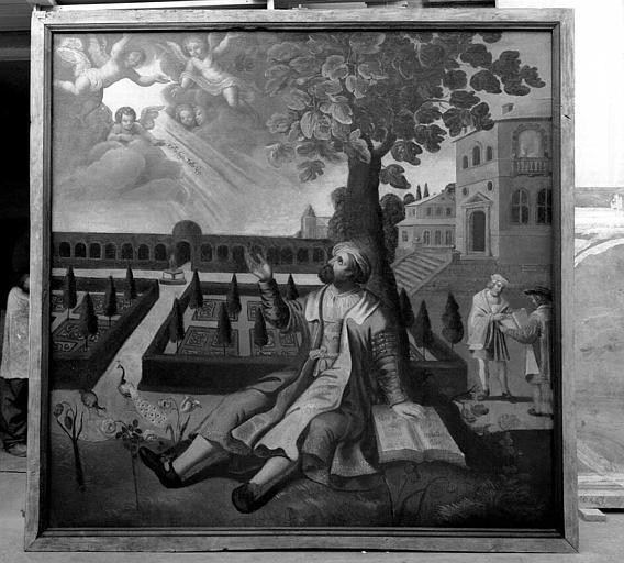 Peinture sur toile : Inspiration de saint Augustin