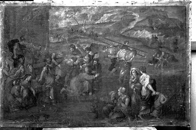 Peinture sur toile : La montée du calvaire