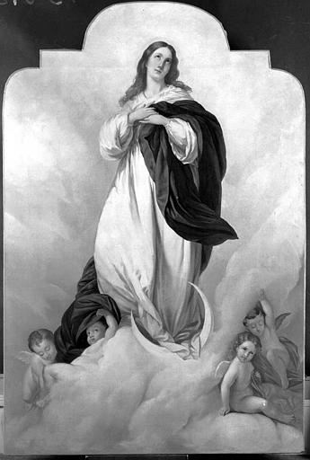 Peinture sur toile du retable du maître-autel : Assomption