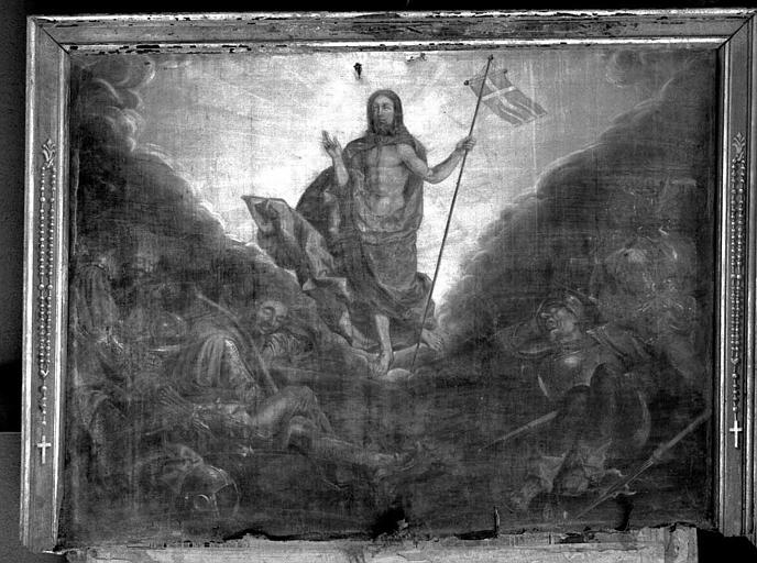 Peinture sur toile du retable du maître-autel : La Résurrection