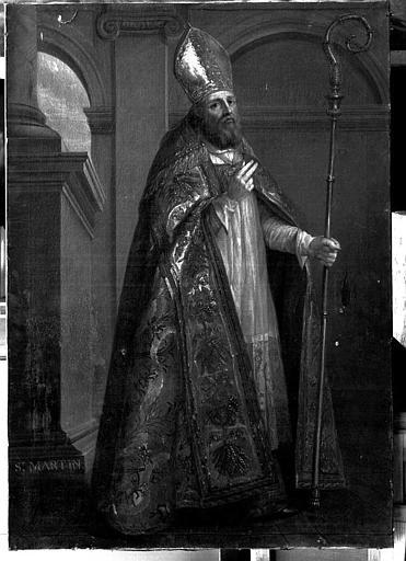 Peinture sur toile : Saint Martin évêque