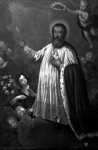 Peinture sur toile : Saint Pierre Fourier
