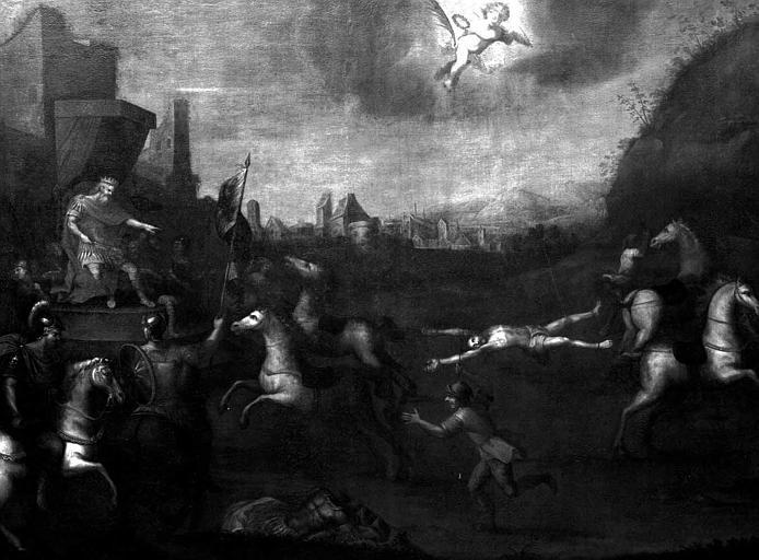 Peinture sur toile : Martyre de saint Hippolyte