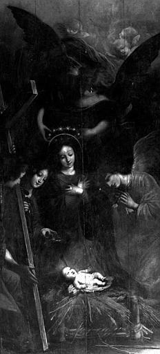 Panneau peint : Nativité